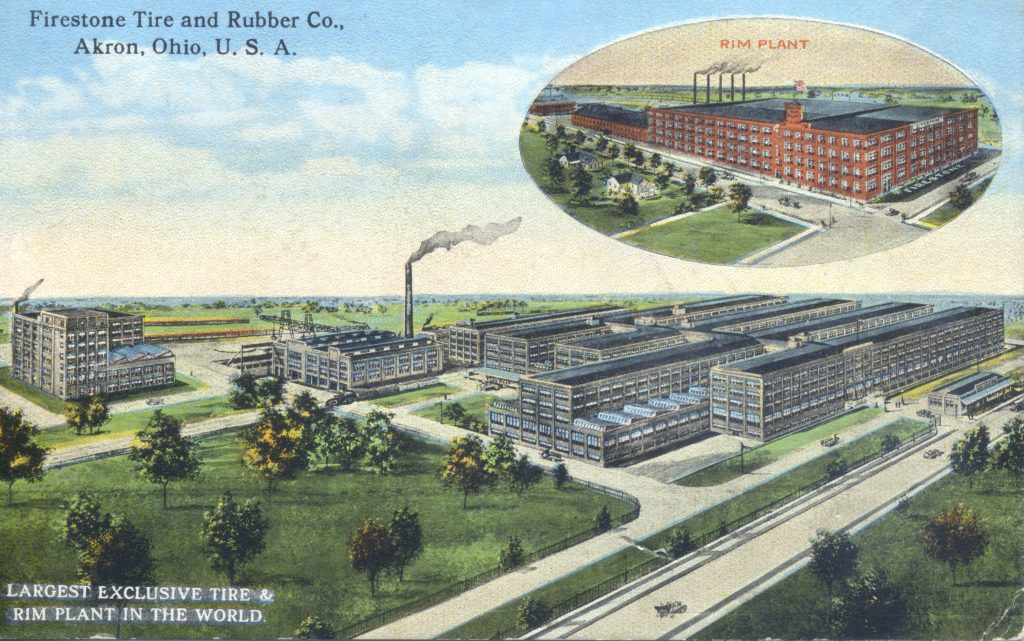 rubber factory in Akron Ohio