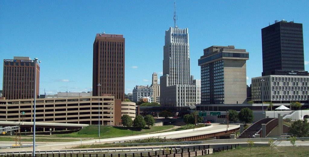 Akron Ohio city scape